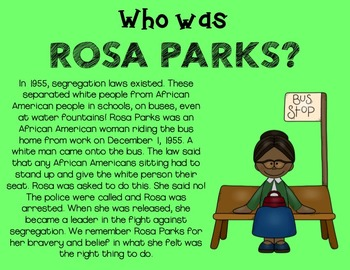 Rosa Parks Unit for Primary Students