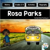 Rosa Parks Biography Unit with Articles, Activities, Character Traits & Quiz