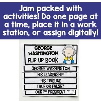George Washington Flip Up Book