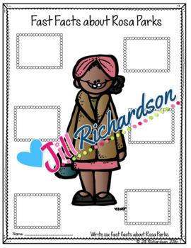 Rosa Parks Writing