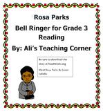 Rosa Parks- 3rd Grade Reading bellringer