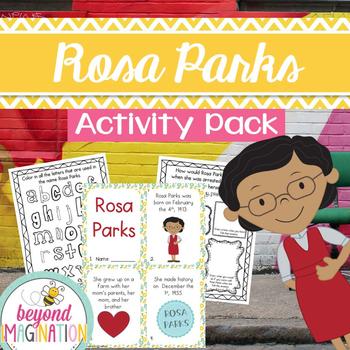 Rosa Parks Activity Pack | Black History Month Printable Worksheets for Kids
