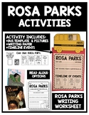 Rosa Parks Activities (Timeline, Writing, & Craft!)
