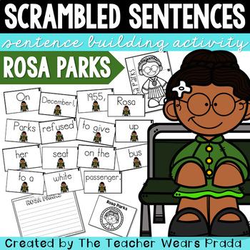 Rosa Parks Activity | Building Sentences | Scrambled Sentences
