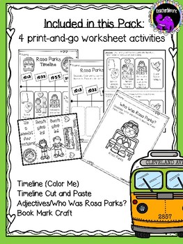 Rosa Parks Activity Pack