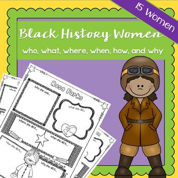 Black History Women Who, What, Where, When, How, Why | Pri