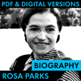 Rosa Parks Biography Research Organizer, Rosa Parks Easy B