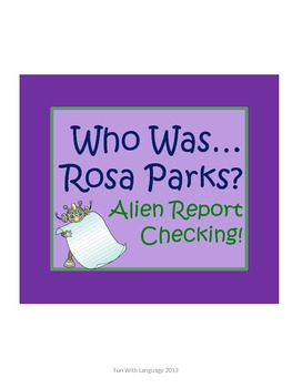 "Rosa Parks Biography by McDonough ""Who Was..."" Comprehension Worksheets"