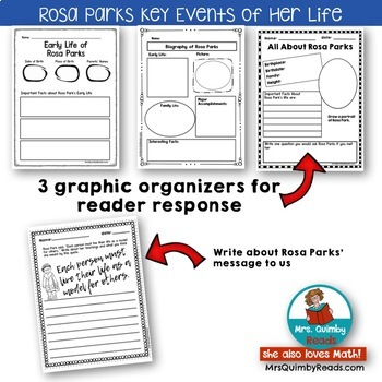 Rosa Parks | Biography | Writing Prompts | Graphic Organizers