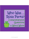 """Rosa Parks Biography by McDonough """"Who Was..."""" Comprehension Worksheets"""