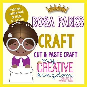 Rosa Parks Black History Craft By Miss Mandy Teachers