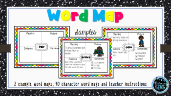 Rosa Parks - Character Trait Word Maps, Graphic Organizers