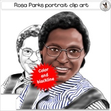 Rosa Parks Civil Rights Icon Realistic Clip Art Portrait