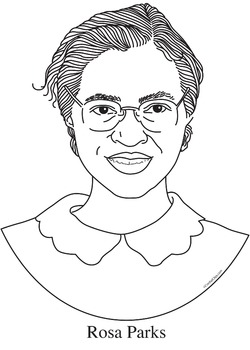 Rosa Parks Realistic Clip Art Coloring Page And Poster By