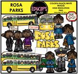 Rosa Parks Clip Art Bundle {Educlips Clipart}