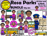Rosa Parks Clipart   Personal and Commercial Use 65 images!