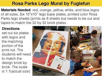 Rosa Parks Collaborative Lego Mural Lesson