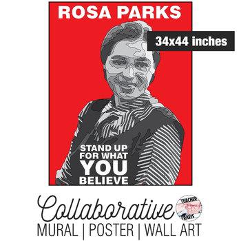 Rosa Parks Collaborative Mural | Poster | Huge Wall Art