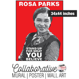 Rosa Parks Collaborative Mural | Poster | Huge Wall Art