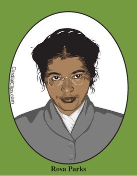 Rosa Parks Color Clip Art or Mini Poster