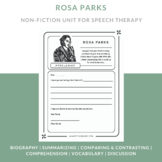 Rosa Parks Speech Therapy Reading & Language Activities