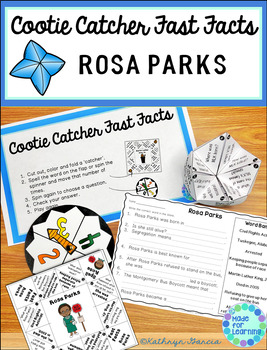 Rosa Parks Cootie Catcher Fast Facts