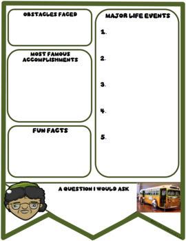 Rosa Parks Digital Research Banner in Google Slides™
