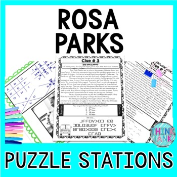 Rosa Parks ESCAPE ROOM:  Black History Month and Civil Rights Movement