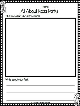 Rosa Parks Emergent Reader Book AND Interactive Activities