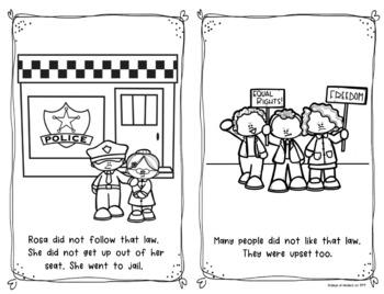 Rosa Parks {Emergent Reader} for Kindergarten and First Grade Social Studies