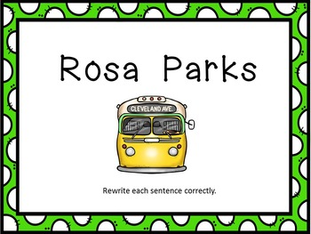 Rosa Parks Facts Flash Cards