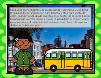 Rosa Parks Facts and Activities in Spanish