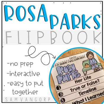 Rosa Parks Flip Book PLUS Colored Poster & Student Coloring Page