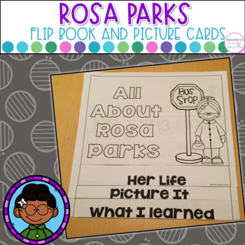 Rosa Parks-Flip Book and Vocab Cards