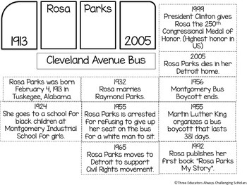 Rosa Parks Flipbook with Facts