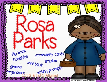 Rosa Parks Graphic Organizers and Activities Mini-Unit