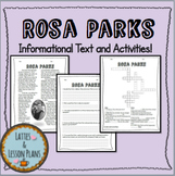 Rosa Parks Informational Text, Questions, and Crossword Activity!