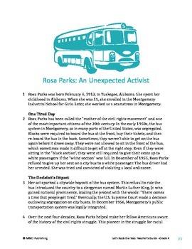 Rosa Parks - Informational Text Test Prep