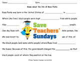 Rosa Parks Lesson plan (including video) and Worksheets