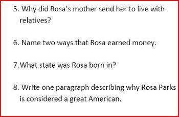 Rosa Park's Life Story