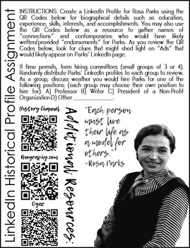 Rosa Parks LinkedIn Profile Assignment