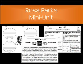 Rosa Parks-Main Idea, KWL Chart, Reading Comprehension