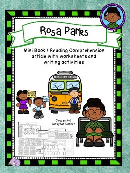 Rosa Parks Mini Book Foldable and Comprehension Packet