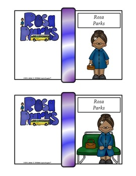 Rosa Parks Mini Research Fold-Ems, Word Wall, and Writing Templates