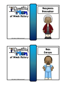 Men of Black History Mini Research Fold-Ems, GOs and Writing Templates