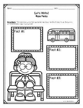 Rosa Parks Mini-Unit for Black History Month