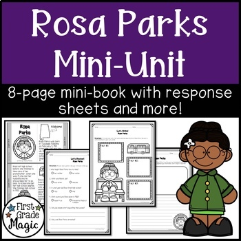 Rosa Parks Mini-book for Black History Month
