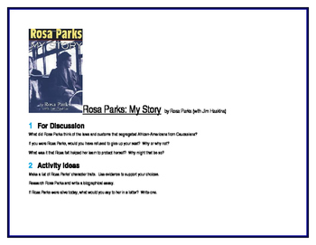 Rosa Parks: My Story for Literature Circles