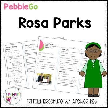 Rosa Parks PebbleGo research brochure