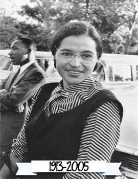 Rosa Parks Portrait and Anchor Chart Poster - Famous Americans